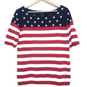 Talbots   Pima cotton American Flag knit top